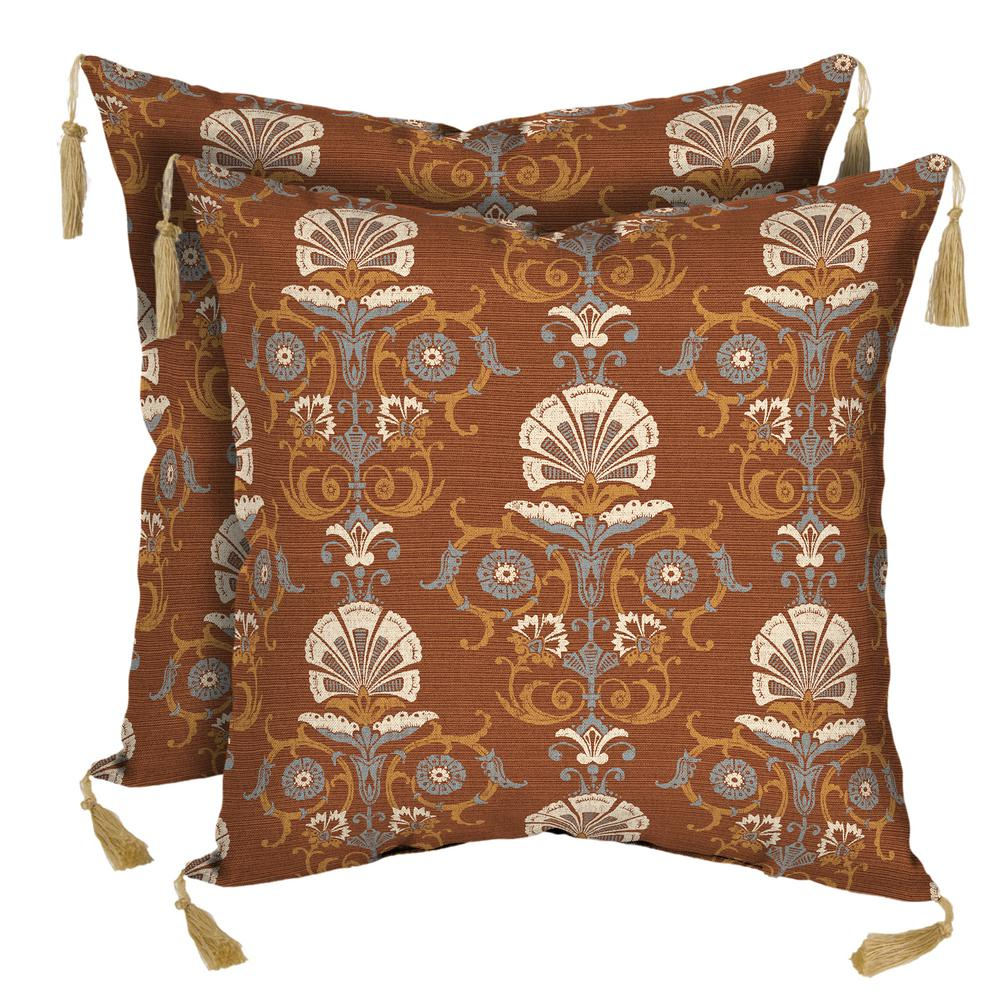 Anatolia Rust Square Outdoor Throw Pillow (2-Pack)