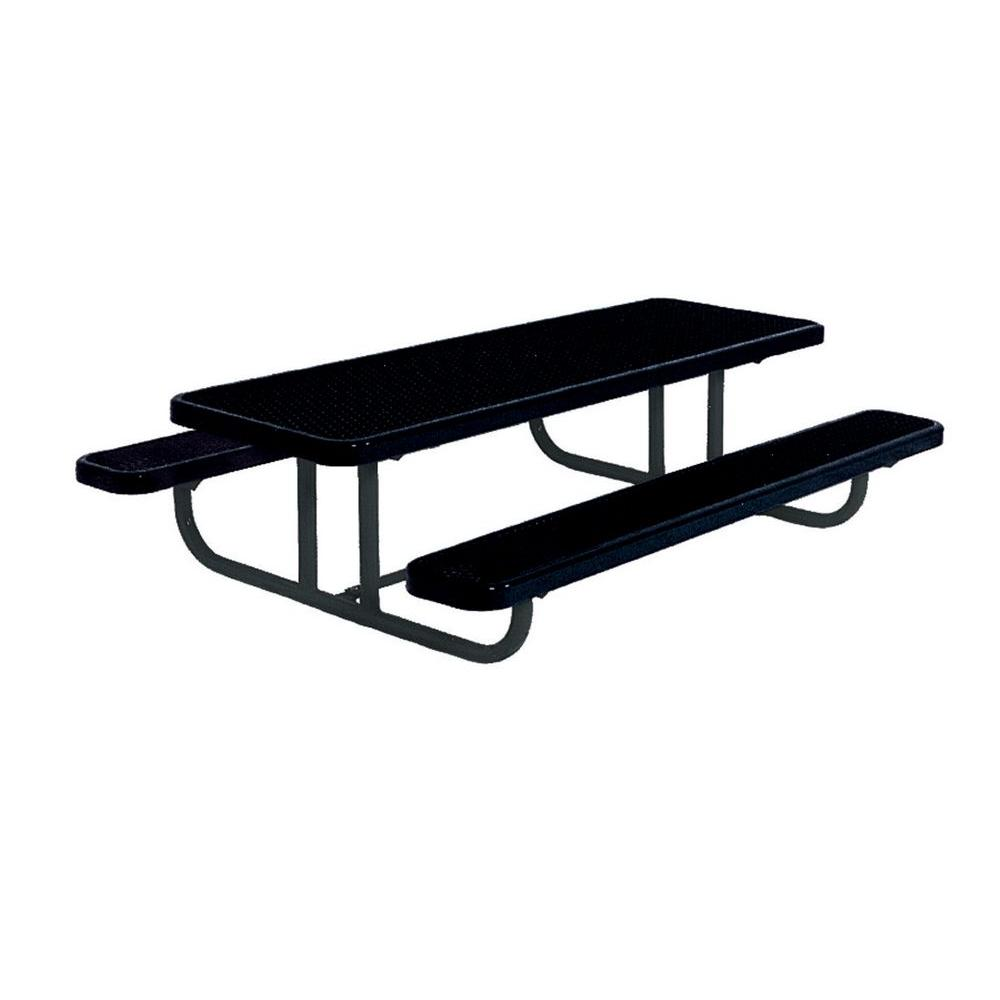 8 ft. Diamond Black Commercial Park Preschool Portable Rectangular Table