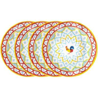 Porto Chal 4-Piece Assorted Colors Melamine Dinner Plate Set  sc 1 st  Home Depot & Vintage - Dinnerware Sets - Dinnerware - The Home Depot