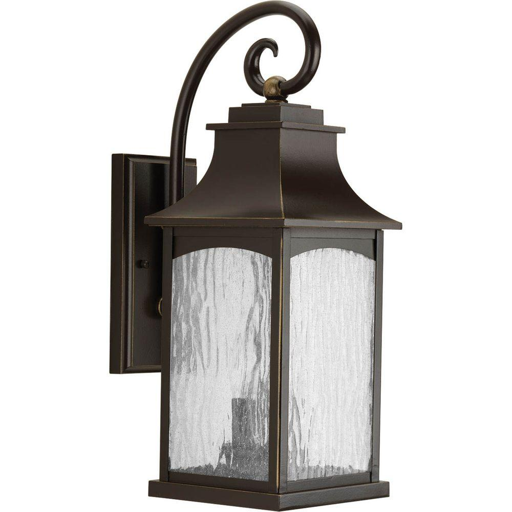 Great Progress Lighting Maison Collection 2 Light Oil Rubbed Bronze Outdoor Wall  Mount Lantern