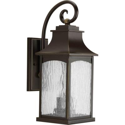 Maison Collection 2-Light Oil Rubbed Bronze 20 in. Outdoor Wall Lantern Sconce