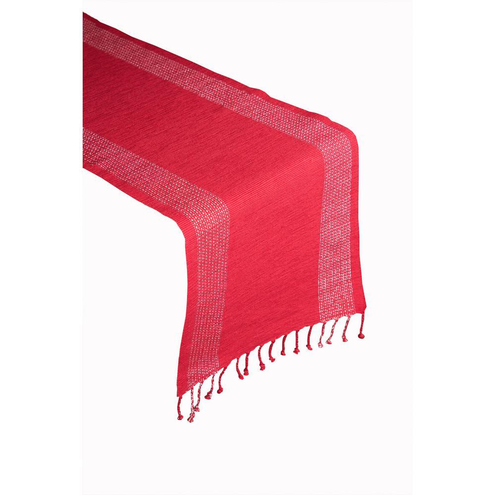 Christmas Double Stripe Border 100% Cotton Table Runner