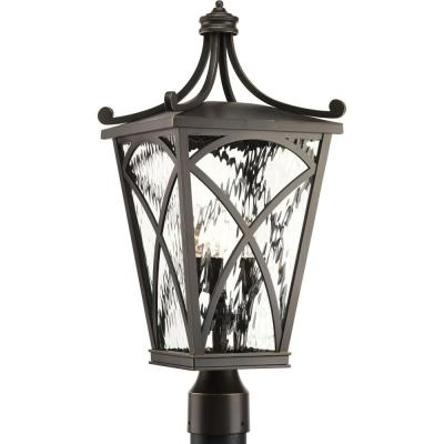 Cadence Collection 3-Light Outdoor Oil Rubbed Bronze Post Lamp