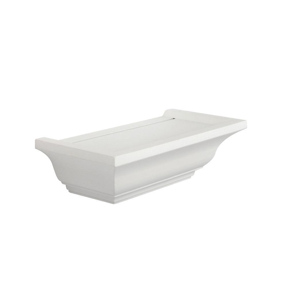 Knape Vogt 5 In X 10 In Floating White Mantel