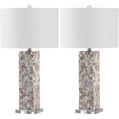 Jacoby 28.9 in. Cream Table Lamp with White Shade (Set of 2)