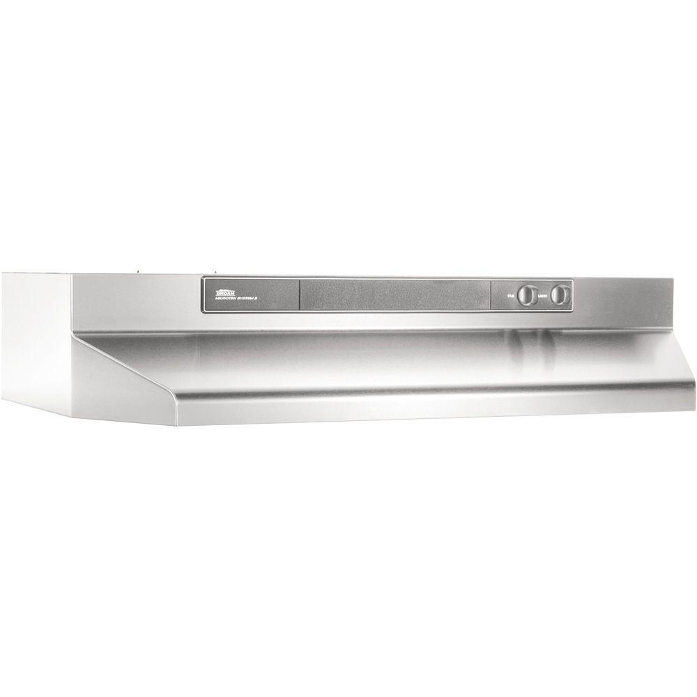 stainless steel broan under cabinet range hoods 462404 64_1000 broan 46000 series 24 in convertible range hood in stainless  at edmiracle.co
