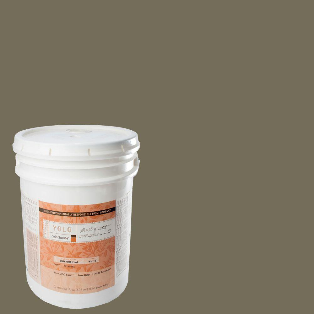 YOLO Colorhouse 5-gal. Stone .06 Flat Interior Paint-DISCONTINUED