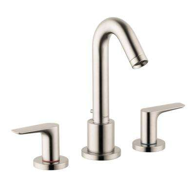 Logis 2-Handle Deck-Mount Roman Tub Faucet in Brushed Nickel