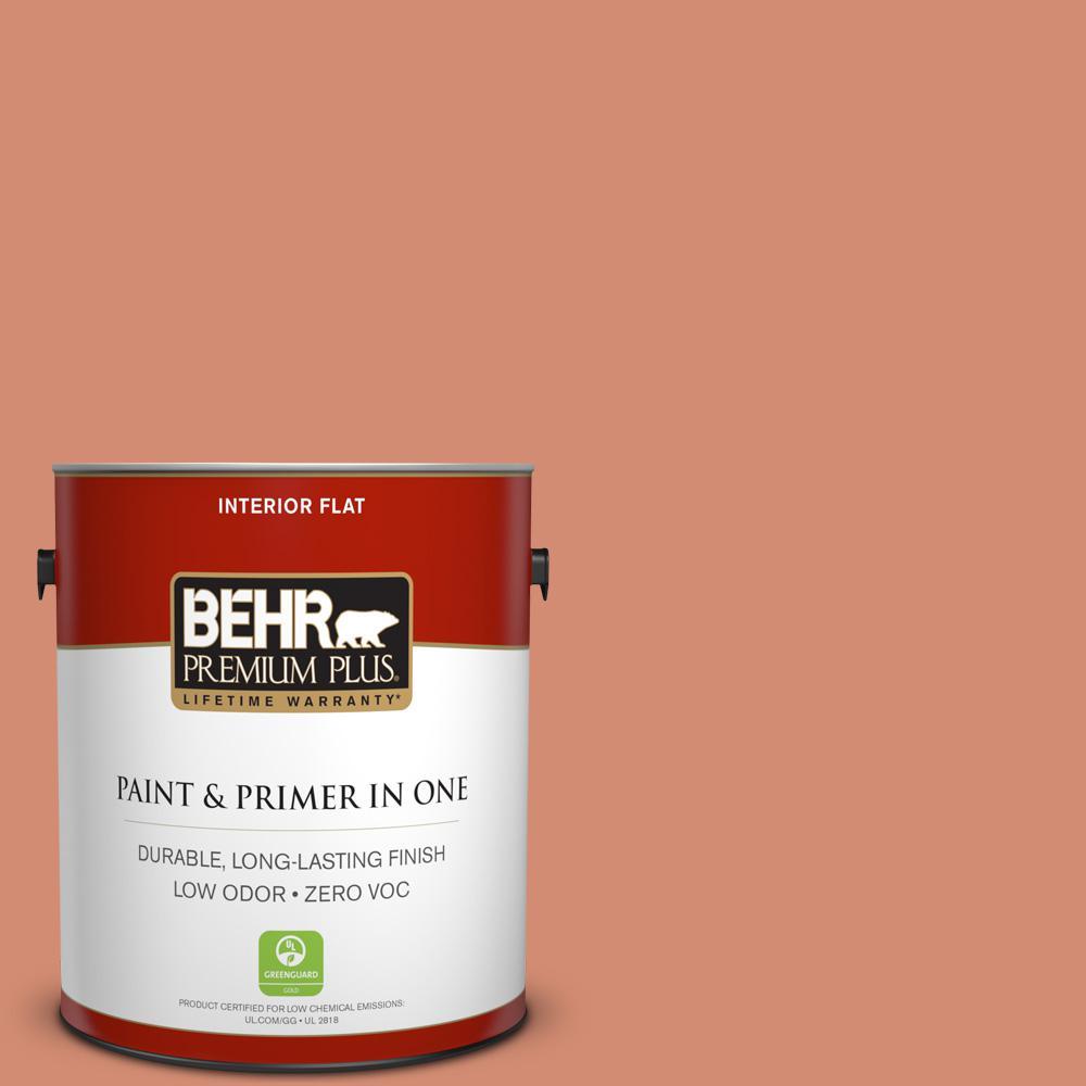 BEHR Premium Plus 1-gal. #220D-5 Nectarina Zero VOC Flat Interior Paint