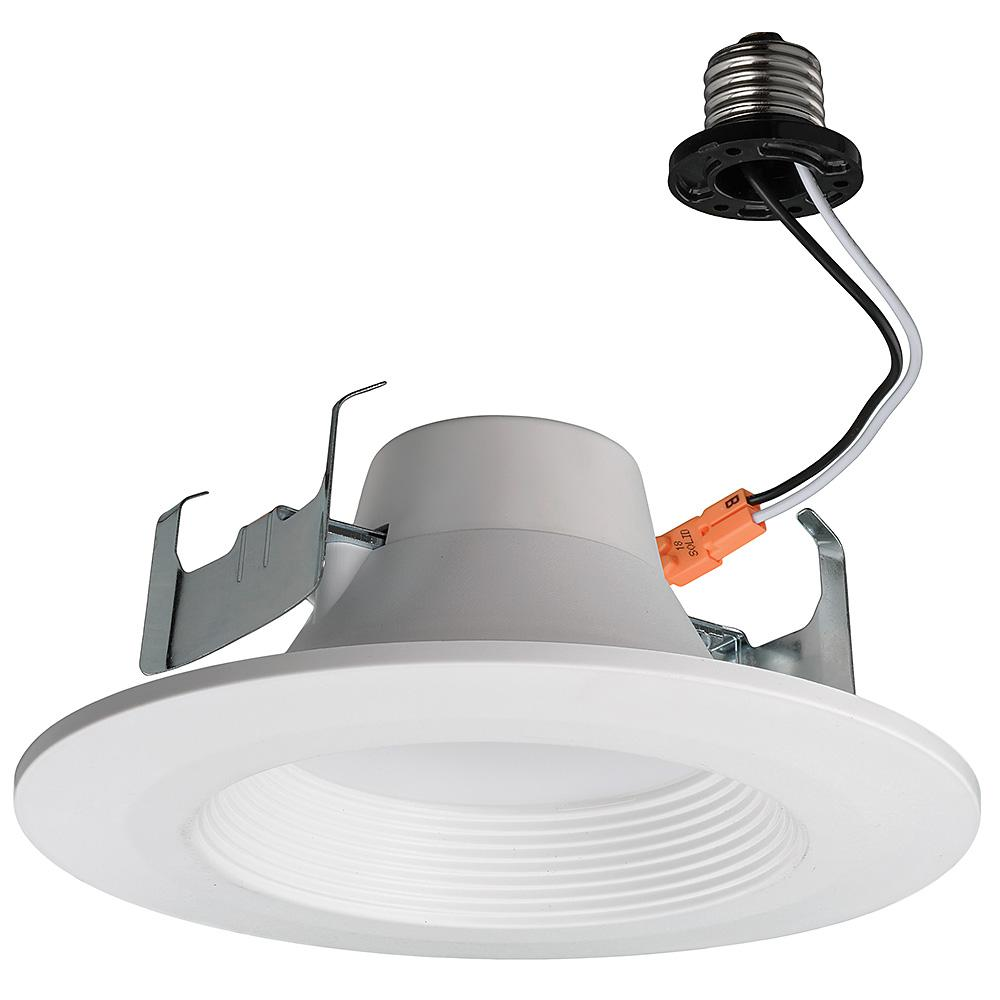 Commercial Electric 5/6 In. White Integrated LED Bluetooth