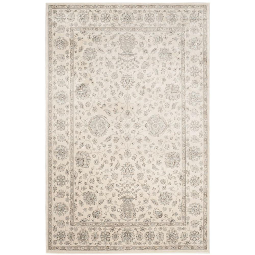 Persian Garden Silver/Cream 4 ft. x 5 ft. 7 in. Area