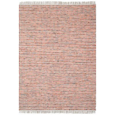 Orange Dots Cotton 1 ft. 9 in. x 2 ft. 10 in. Accent Rug