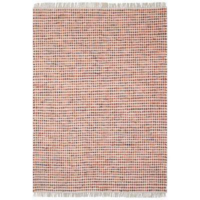 Orange Dots Cotton 1 ft. 9 in. x 2 ft. 10 in. Accent Rag Rug