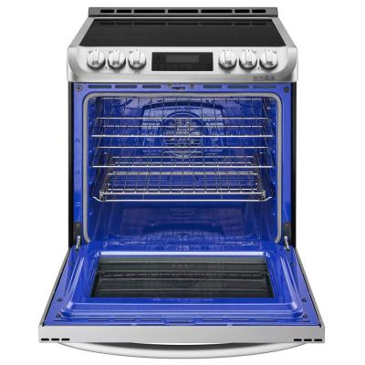 30 in. 6.3 cu. ft. Slide-In Electric Smart Range with ProBake Convection, Induction, Self Clean Oven in Stainless Steel
