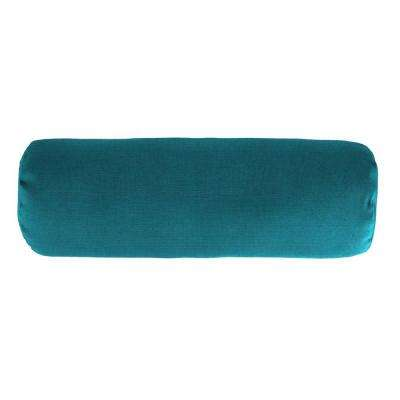 Sunbrella 7 in. x 20 in. Spectrum Peacock Bolster Outdoor Pillow