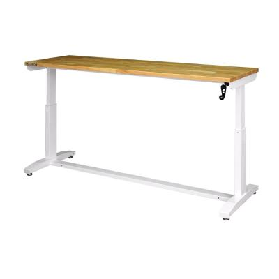 72 in. Adjustable Height Work Table in White