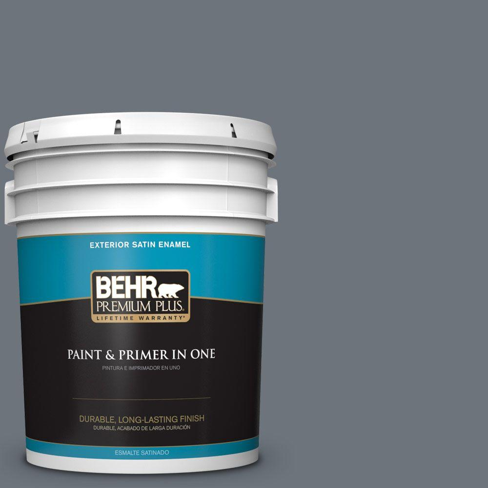 5-gal. #750F-5 Silver Hill Satin Enamel Exterior Paint