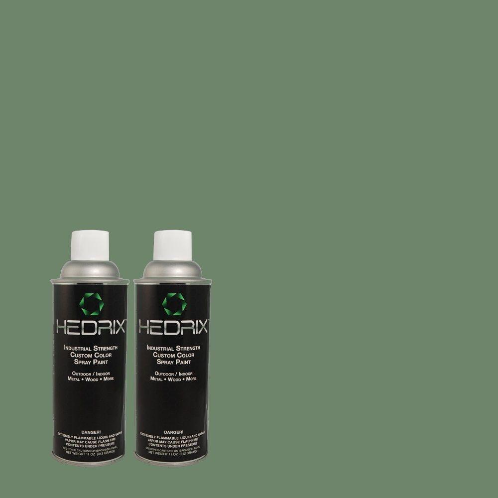 Hedrix 11 oz. Match of 2B56-6 Green Gable Low Lustre Custom Spray Paint (2-Pack)