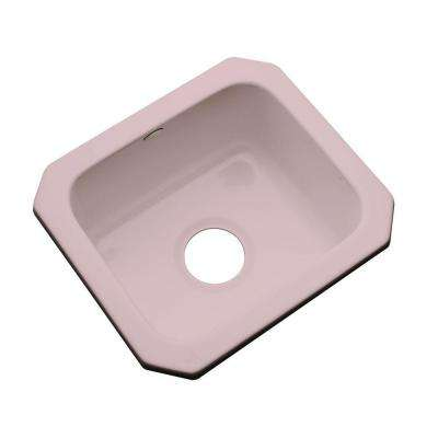 Manchester Undermount Acrylic 16 in. 0-Hole Single Bowl Entertainment Sink in Wild Rose
