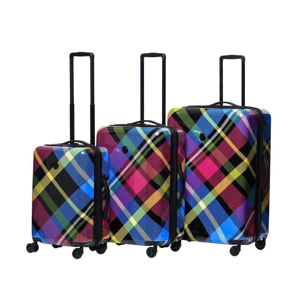 Tartan 3-Piece Hardside Spinner Luggage Set
