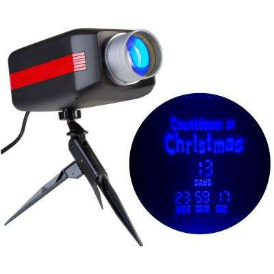LED Projection Countdown to Christmas in Blue