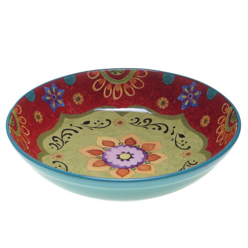 Certified International Tunisian Sunset Pasta and Salad Serving Bowl