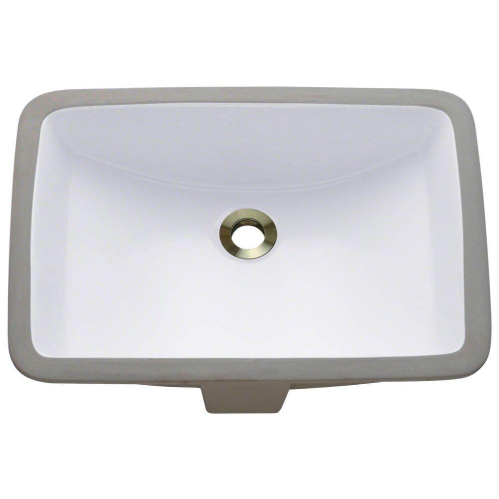 Mr Direct Undermount Porcelain Bathroom Sink In White