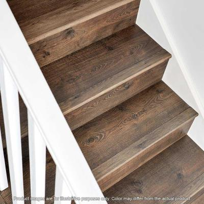 Seabrook Walnut .75 in. Thick x 2.36 in. Wide x 78.7 in. Length Laminate Stairnose Molding