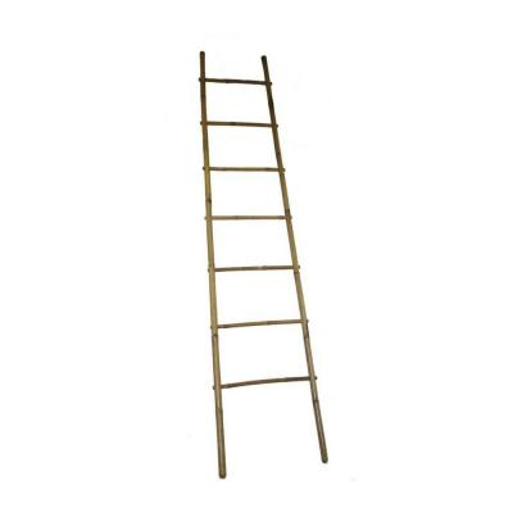 96 in. H 5-Bar Ladder Rack in Bamboo