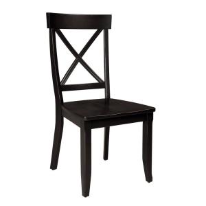 home styles 5178 30 round pedestal dining table black