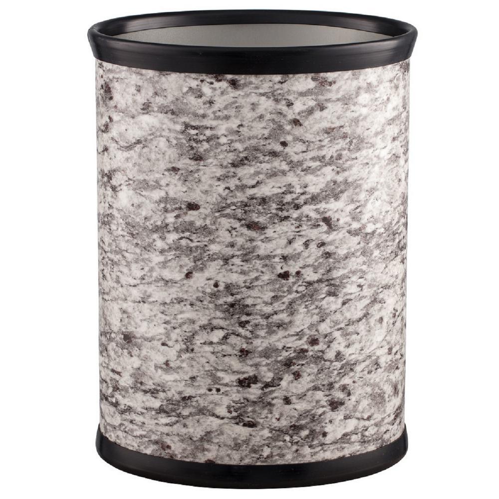 13 Qt. Amerillo Silver Stone Oval Waste Basket