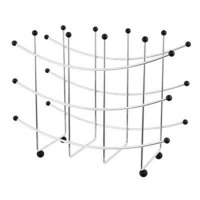 Fusion 15-Bottle Silver Wine Rack