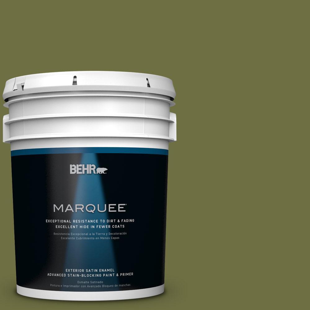 5-gal. #M340-7 Classic Avocado Satin Enamel Exterior Paint
