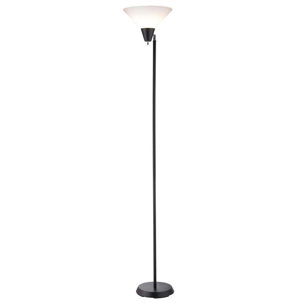 Adesso Swivel Black 71.5 in. Black/Painted Floor Lamp