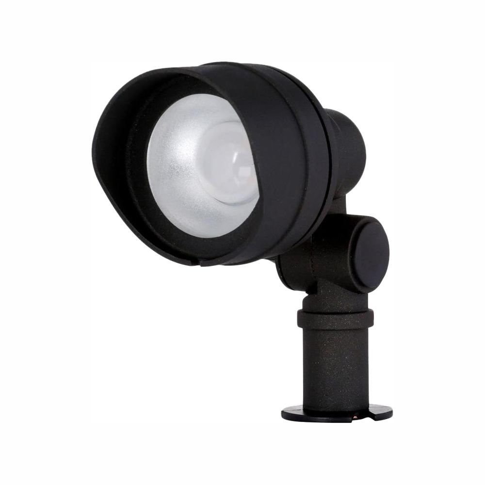 Hampton Bay Low-Voltage 20-Watt Equivalent Black Outdoor Integrated LED Landscape Flood Light