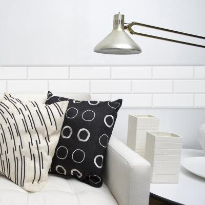 White Bricks Peel and Stick Wallpaper Border
