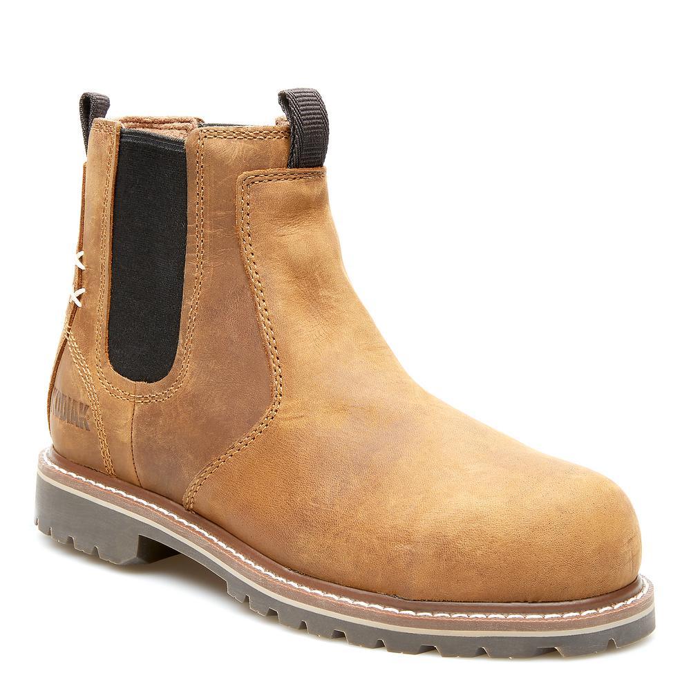 Kodiak Women S Bralorne Chelsea Waterproof Work Boot Composite Toe Brown Size 9 5 M Kd0a4tdfbrn The Home Depot
