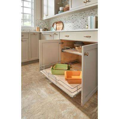 33 in. Pullout Baskets with Gray Solid Bottom