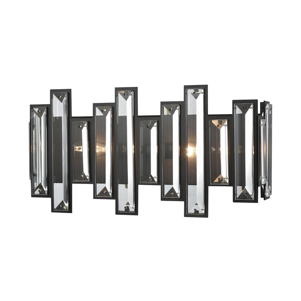 the best attitude 01503 11a43 Titan Lighting Crystal Heights 2-Light Oil Rubbed Bronze with Clear Crystal  Bath Light