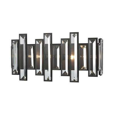 Crystal Heights 2-Light Oil Rubbed Bronze with Clear Crystal Bath Light