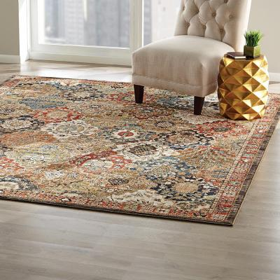 Patchwork Multi 5 ft. x 7 ft. Medallion Area Rug