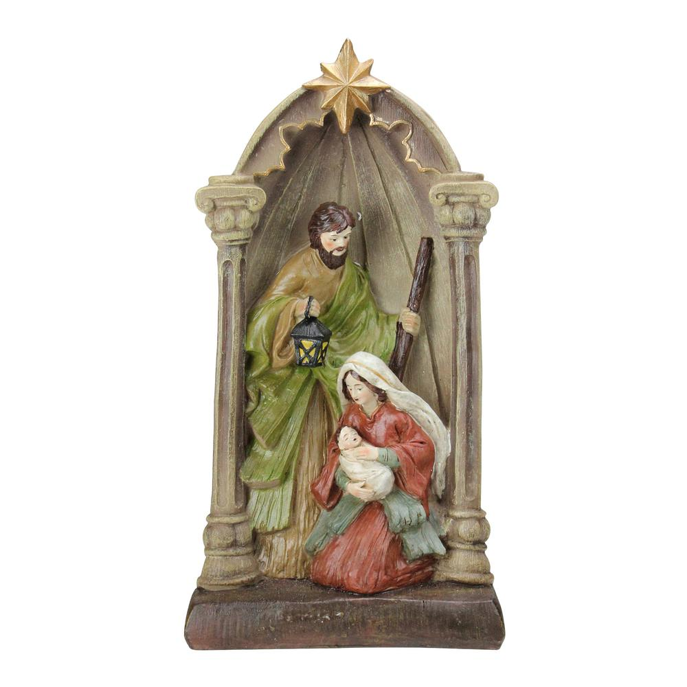 Northlight 14 5 In Holy Family And Angel Figures Christmas Nativity Statue Decor 32915474 The Home Depot