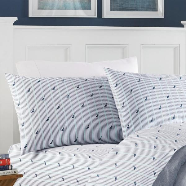 Nautica Audley Blue 3 Piece Twin Xl Sheet Set 208662 The