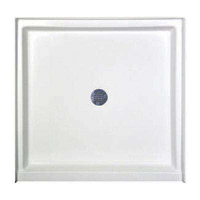 42 in. x 42 in. Single Threshold Shower Base in White