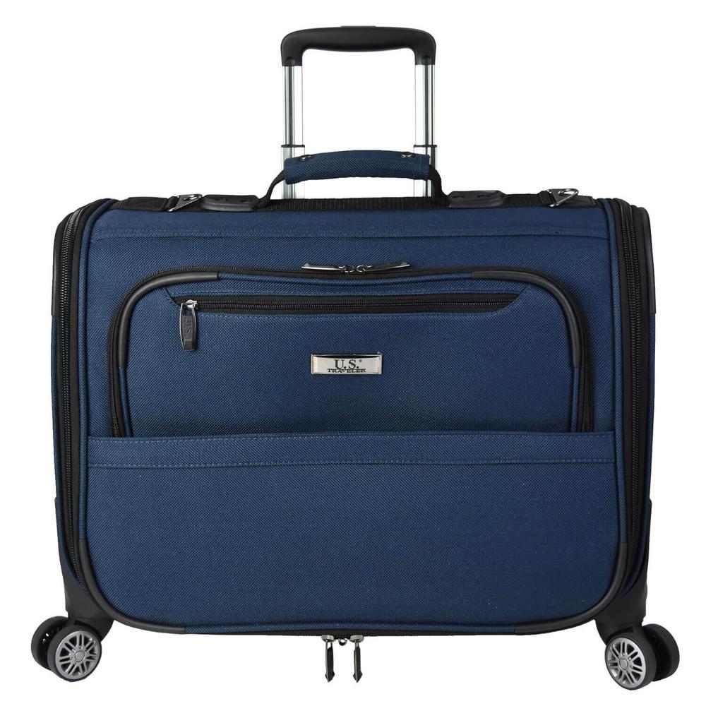 Freetown 21 in. Carry-On Spinner Garment Bag, Navy