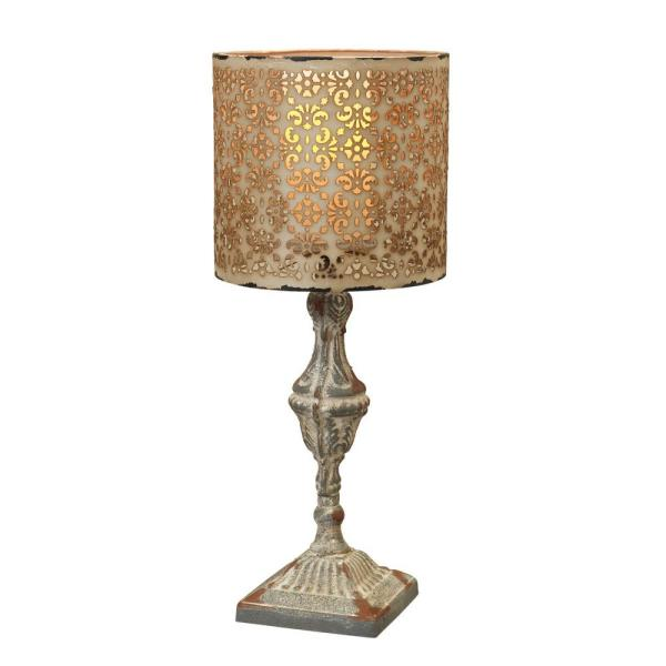 Gerson 19.5 in. H Gray Metal Candle Pedestal 2253090EC