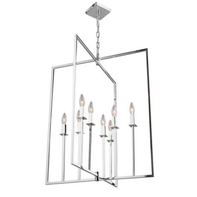 8-Light Chrome Chandelier