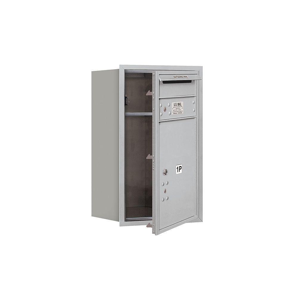 3700 Series 27 in. 7 Door High Unit Parcel Locker 1 PL5 4C Private Front Loading Horizontal Mailbox in Aluminum
