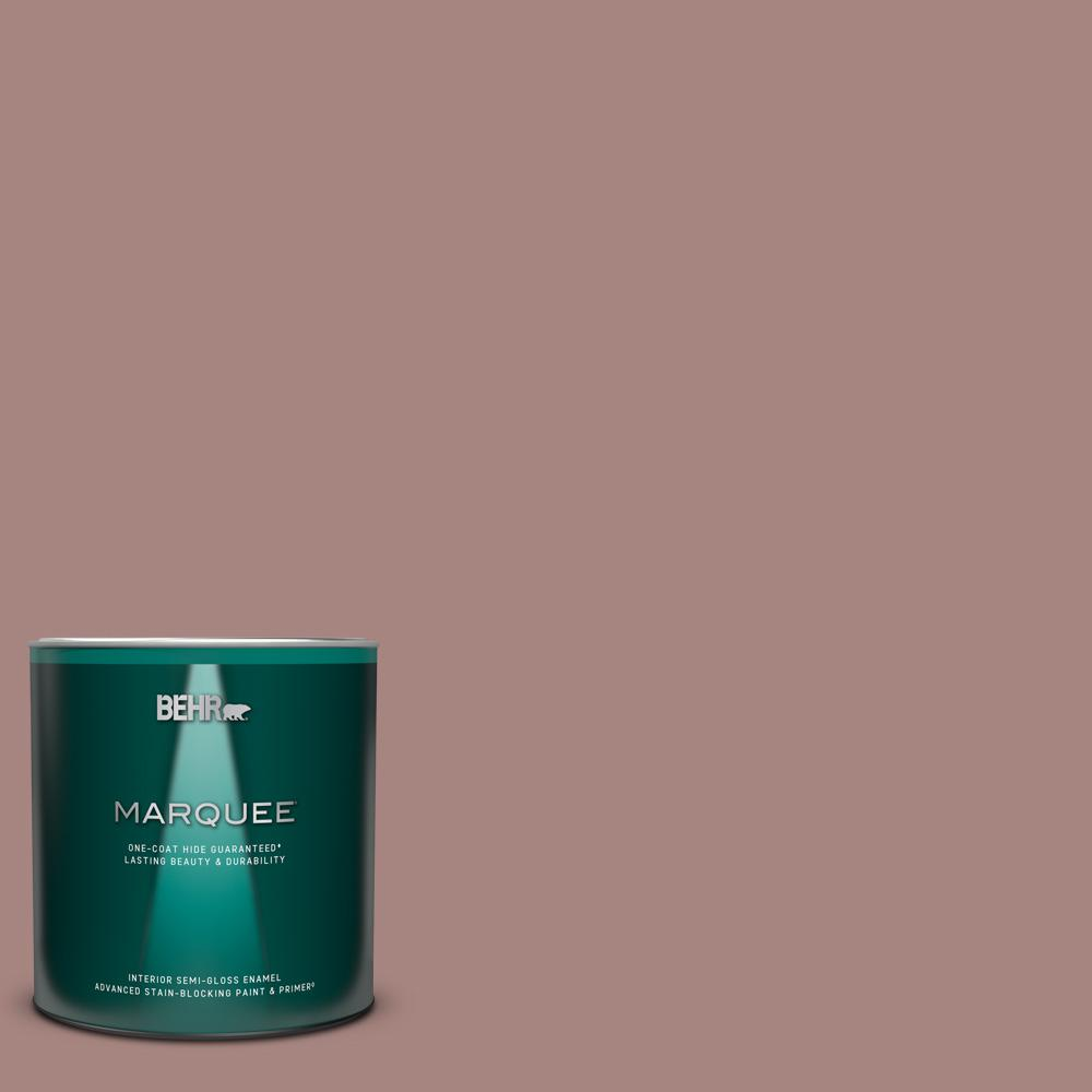 Behr Marquee 1 Qt 700b 4 Muse Semi Gloss Enamel Interior Paint And Primer In One 345404 The Home Depot