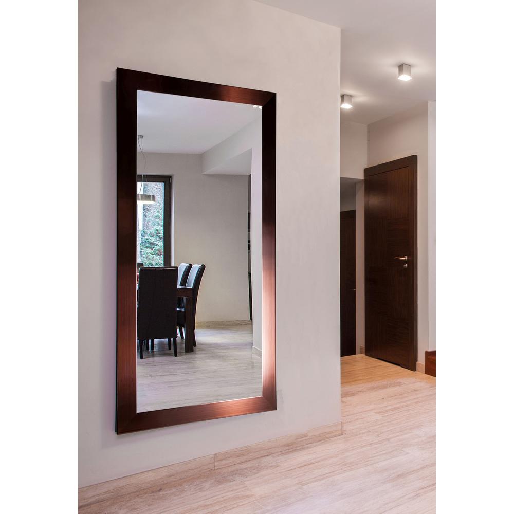 76 in. x 37 in. Shiny Bronze Double Vanity Wall Mirror